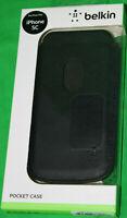 Belkin Pocket Case Pu-Leder Schwarz iPhone 5 C Schwarz Hülle Handyhülle