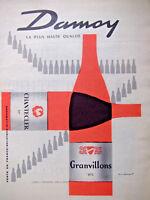 PUBLICITÉ DE PRESSE 1961 DAMOY CHANTECLER 11° ET GRAVILLONS 11°5 HAUTE QUALITÉ