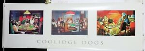 """Poker Dogs C M Coolidge collection vintage door size poster 21"""" X 60"""" NOS (b121)"""