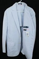 Polo Ralph Lauren NWT Blue White Seersucker Cotton Blazer Coat Jacket Mens L