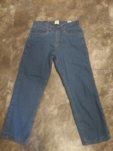 Redhead Insulated  Fleece Lined Blue Denim Jeans Pants Mens 34 x 30