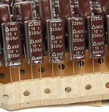 (10pcs) 2200uf 10v Samyoung Electrolytic Capacitors NXB Low ESR 10v2200uf