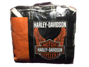 Harley-Davidson Wings Royal Plush Raschel Throw Blanket 76X94 Soft Cover Full/Qu
