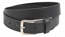"Mens - Ladies (35mm) 1.25"" Genuine Leather Slim Trouser Belt - Small to XXLarge"