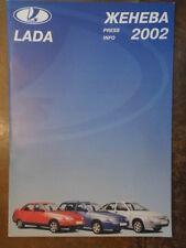 LADA RANGE orig 2002 UK Mkt Media Info Brochure in Russian  110 111 112 Niva 4x4