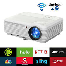 6000lumen Android 6.0 Projector Blue-tooth WIFI Nexflix Online Apps HD 1080P