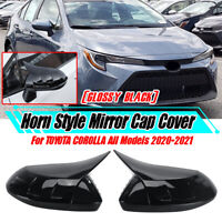 2x Rear-view Side Door Mirror Cover Cap For Toyota Corolla Levin All 2020 2021
