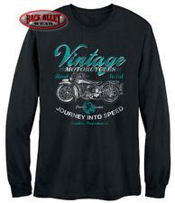 VINTAGE MOTORCYCLES ~ LONG SLEEVE T-Shirt Biker TEE ~ Road Tested Classics