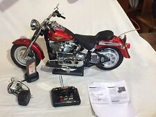 NEW BRIGHT RADIO CONTROLLED HARLEY DAVIDSON FAT BOY MOTORCYCLE, COMPLETE & WORKS