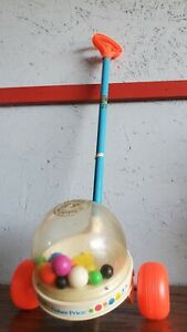 Vintage 1960's Fisher Price Corn Popper Push Toy