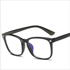 Blue Light Filter UV Transparent Lens Vintage Computer Glasses Anti-glare HE