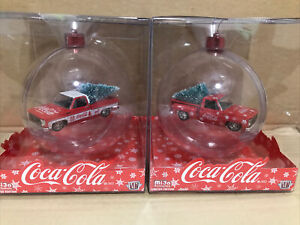 M2 Machines 1/64 MiJo Exclusives Coca Cola Ornament Set 2 Pieces!!