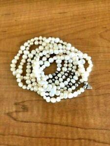 SILPADA B1601 Goddess Pearl Stretch Bracelets Complete Set of 7