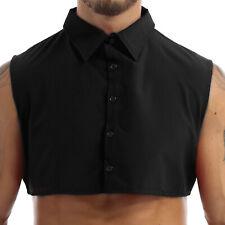 Men's False Collar Muscle Casual T-shirt Fake Collar Half Shirts Tee Tops Fancy