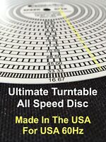Accurate Turntable Strobe Speed Disk Record Player Pitch Disc Best RPM USA 60Hz