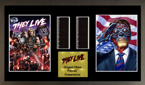 They Live GENUINE 2 strip film cell style display 16 x 8 FRAMED