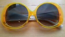 alain mikli for courreges sunglasses handmade in france oversize orange white