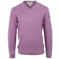 Cutter & Buck Mens Merino V Neck Sweater - Lilac - S