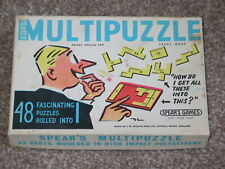 Vintage Spears Multipuzzle Toy - 48 Puzzles Rolled Into 1 - 1960`s