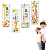 New Kid's Child Cute Animal Growth Height Measure Chart 1.7M Wall Sticker Decal