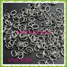 3x4mm 100pc Antique Silver Plated Oval Jump Rings Jewelry Findings Open Earrings