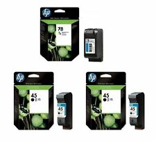 Original HP Ink 2 x 51645A 45 + 1 x C6578A 78 with 1.28 oz Cartridges - NEW