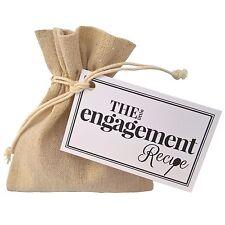 The Little Engagement Recipe - Unique Gift Bag Token Present Couple Celebration