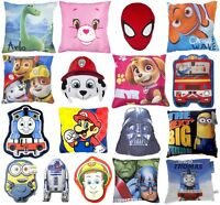 CHILDRENS CUSHION AVENGERS THOMAS PAW PATROL DESPICABLE ME STAR WARS PILLOWS