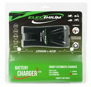 Electhium Cargador Batería para Todos 12V Lithium LiFePO4 Gel Efb AGM Mf