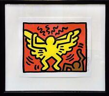 "KEITH HARING ""POP SHOP IV (1)"" 1989 | RARE SIGNED SCREENPRINT | FRAMED | GALLART"