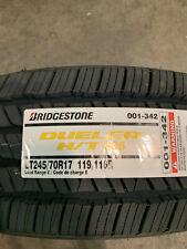 1 New LT 245 70 17 LRE 10 Ply Bridgestone Dueler H/T 685 White Letter Tire