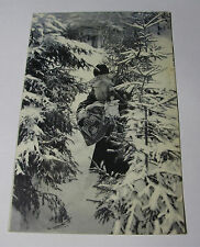 K272 - 1905 SANTA CLAUS in Snowy Forest With Toys MERRY CHRISTMAS POSTCARD