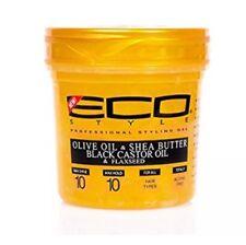 Gold ECO Styling Gel Olive Oli & Shea Butter, Black Castor Oil & Flaxseed 8oz