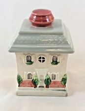 Fitz and Floyd Japan 1987 Ceramic House Trinket Box Covered Townhouse