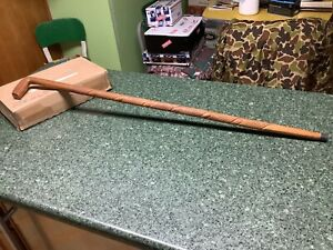 """Vintage Hand Carved Walking Stick Cane 36.75"""" Wood"""
