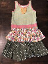 Matilda Jane Girls Size 12 Dress Happy & Free Day at the Park 435