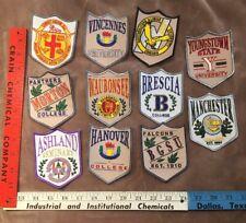 Vtg NOS Circa 1980s COLLEGE & UNIVERSITY Collection 11 Patch Lot (School) 00XO