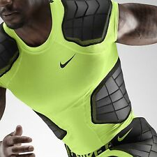 Nike Pro Combat Hyperstrong 3.0 Padded Shirt Compression Volt 584396 Mens 2XL 2X