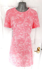 ❤ LIMITED by M&S Size 18 Pink White Faces Print Stretchy Dress NEW RRP £39.50