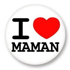 "Pin Button Badge Ø25mm 1"" ♥ I Love You j'aime Ti amo te amo Mamam Mum"