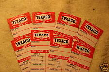 8 VINTAGE 1970's TEXACO OIL GAS MARFAK serv.stickers nos