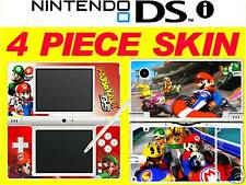 NDSi nintendo DSi original - MARIO KART - 4 Piece Decal / Sticker Skin vinyl