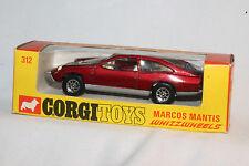 CORGI WHIZZWHEELS #312 MARCOS MANTIS, MAROON, EXCELLENT, ORIGINAL, BOXED
