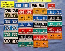 1975 1976 1977 1978 1979 1980 1981 thru 1998 Minnesota License Plate Tab Sticker