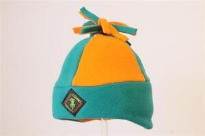 Andean Fleece Outdoor Hat - Jade & Orange