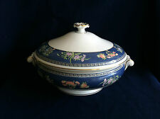 Wedgwood Blue Siam lidded vegetable serving bowl/tureen  (some flaws)