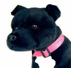 ~❤️~BOCCHETTA Staffy DJ Bull Terrier 32cm black white Staffie Dog soft toy~❤️