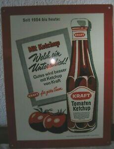 Werbeschild Blechschild Kraft Tomaten Ketchup Kraft für gutes Essen 40 x 30 cm