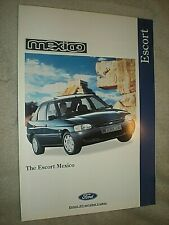 FORD ESCORT MEXICO. 1995 BROCHURE. 6 PAGES. EXCELLENT CONDITION