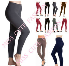 NEW WOMENS LADIES THICK WINTER THERMAL LEGGINGS FLEECE LINED STRETCH SIZE 8-22